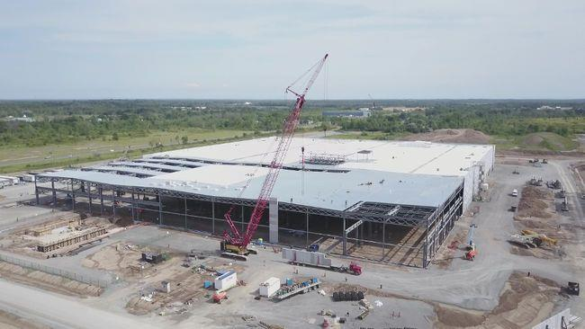 GE Plant moving along well