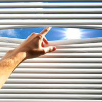 Close Your Blinds to Keep the Sun Out