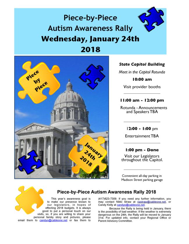 Autism Rally Flyer