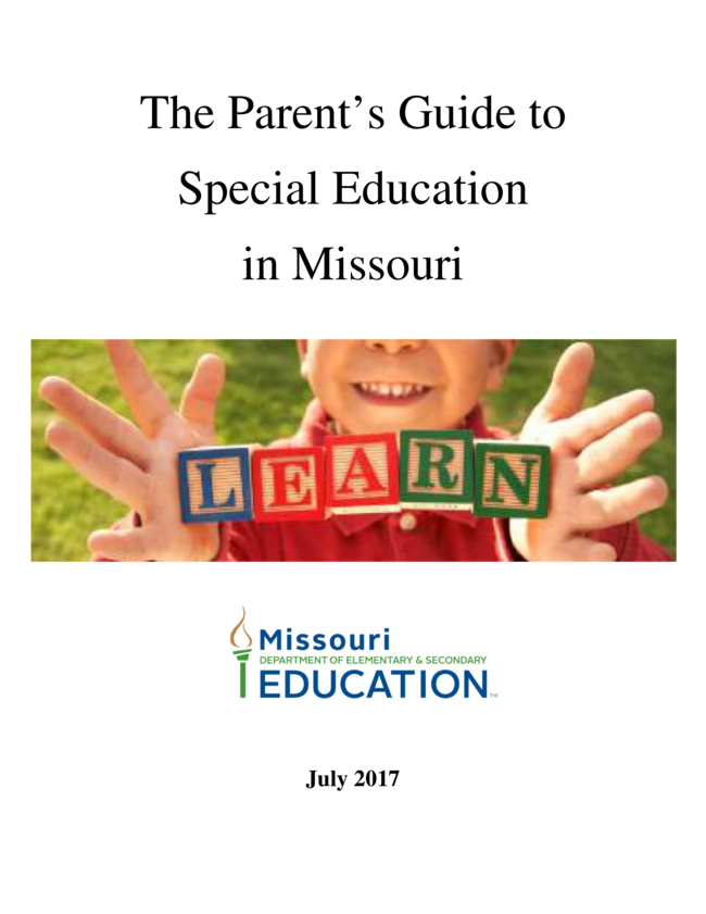 The Parents Guide to Special Educationin Missouri