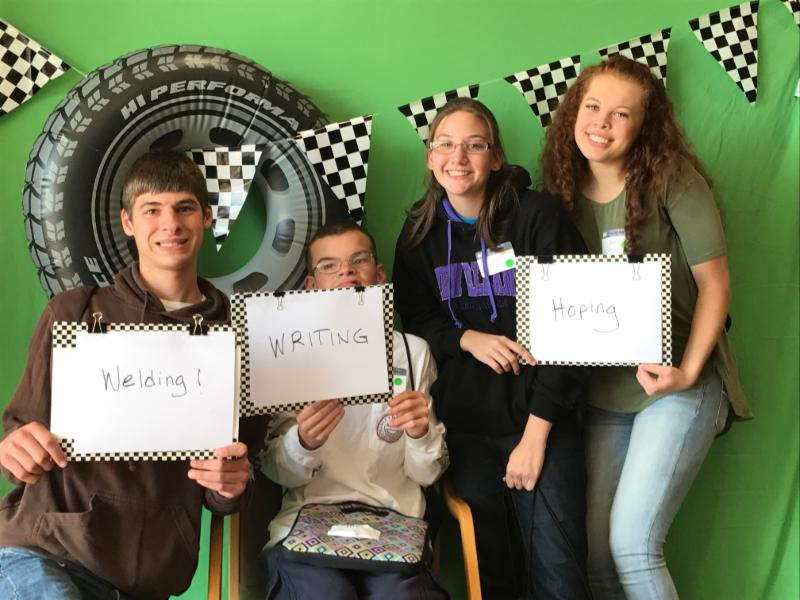 four transition age youth with disabilities