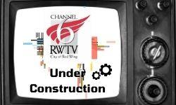 Image of vintage TV with Channel 6 logo on screen and words Under Construction