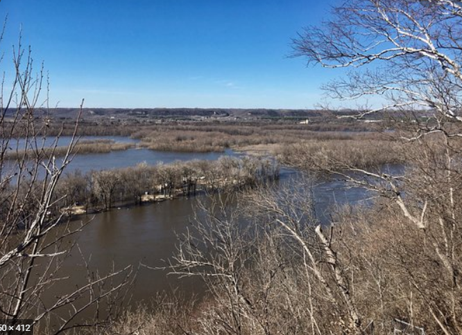 Mississippi River at Red Wing in springtime