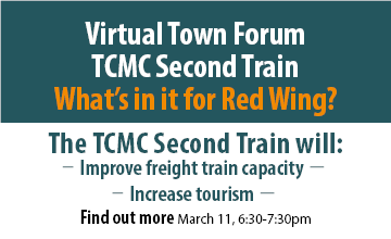 Flyer of the TCMC project Virtual Town Forum for Red Wing