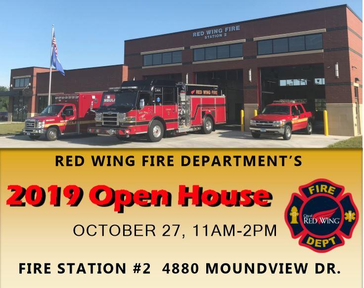 2019 open house flyer for Fire Dept