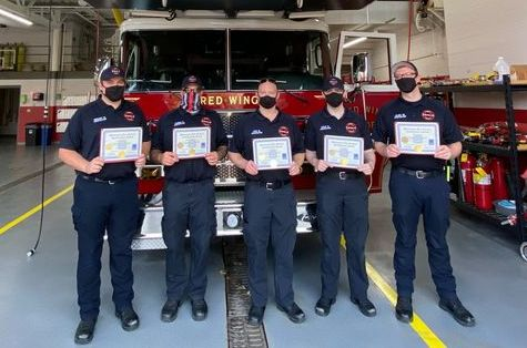 Photo of the RWFD's newest paid on call firefighters