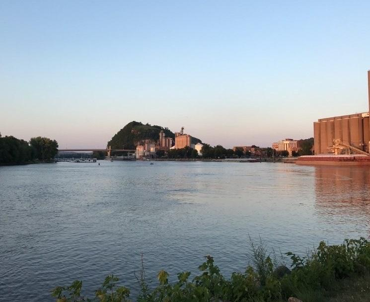 Photo of Red Wing taken from Baypoint Park at sunset in summertime