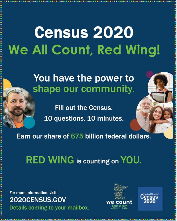 Image of a flyer for the 2020 Census