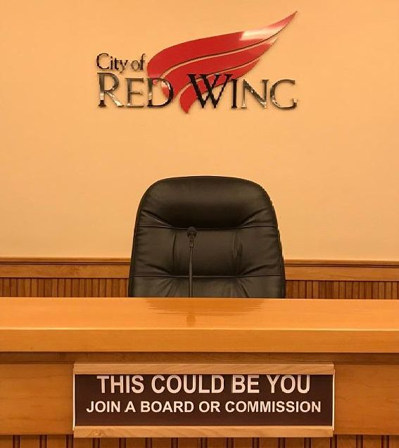 Image of an empty seat in Council Chambers