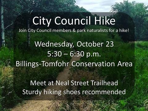 Flyer for October 2019 City Council hike