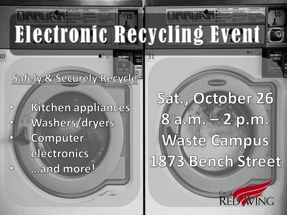 Flyer for  2019 Electronics Recycling Event