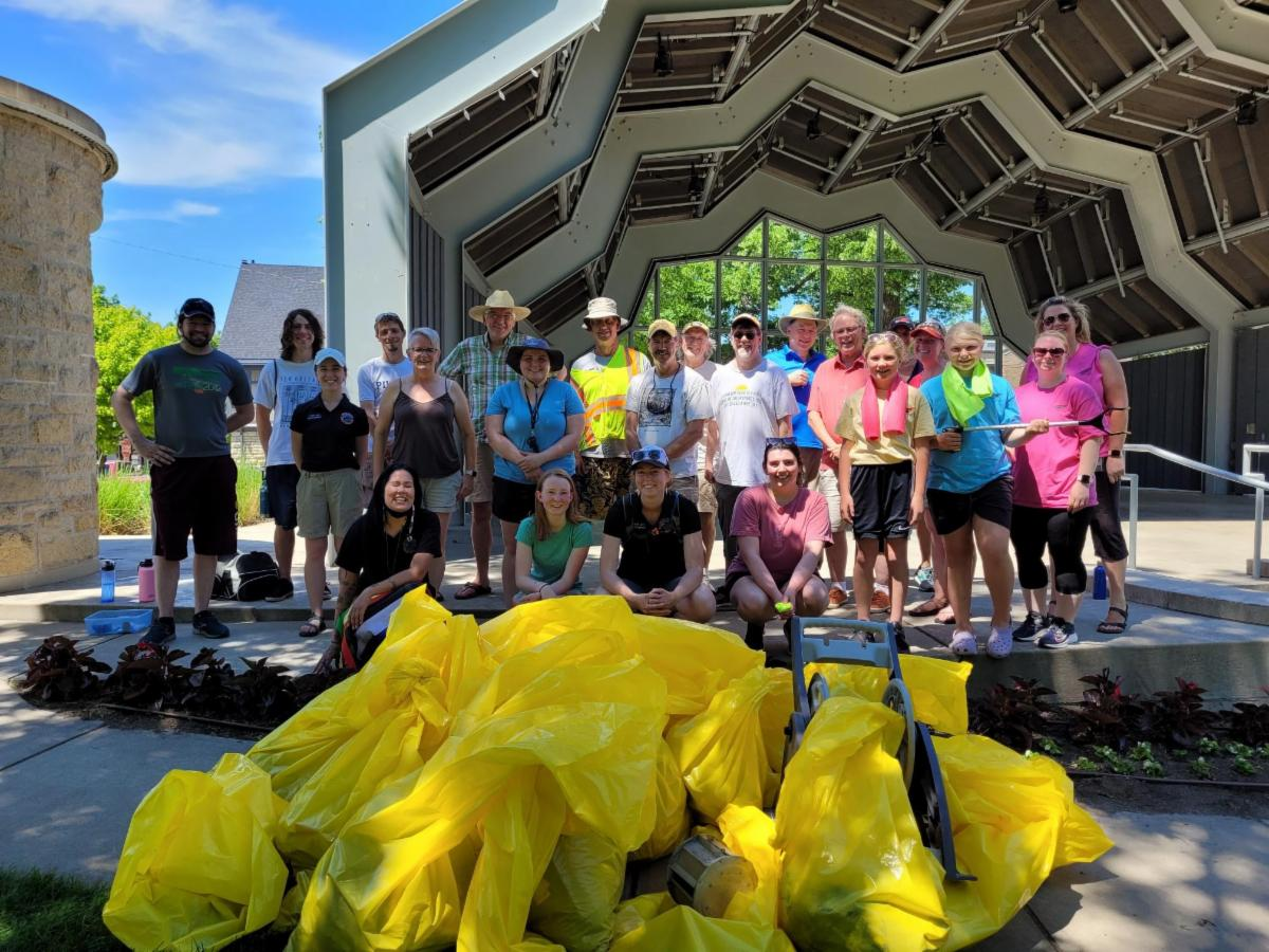 Photo of volunteers from the first Red Wing clean up event
