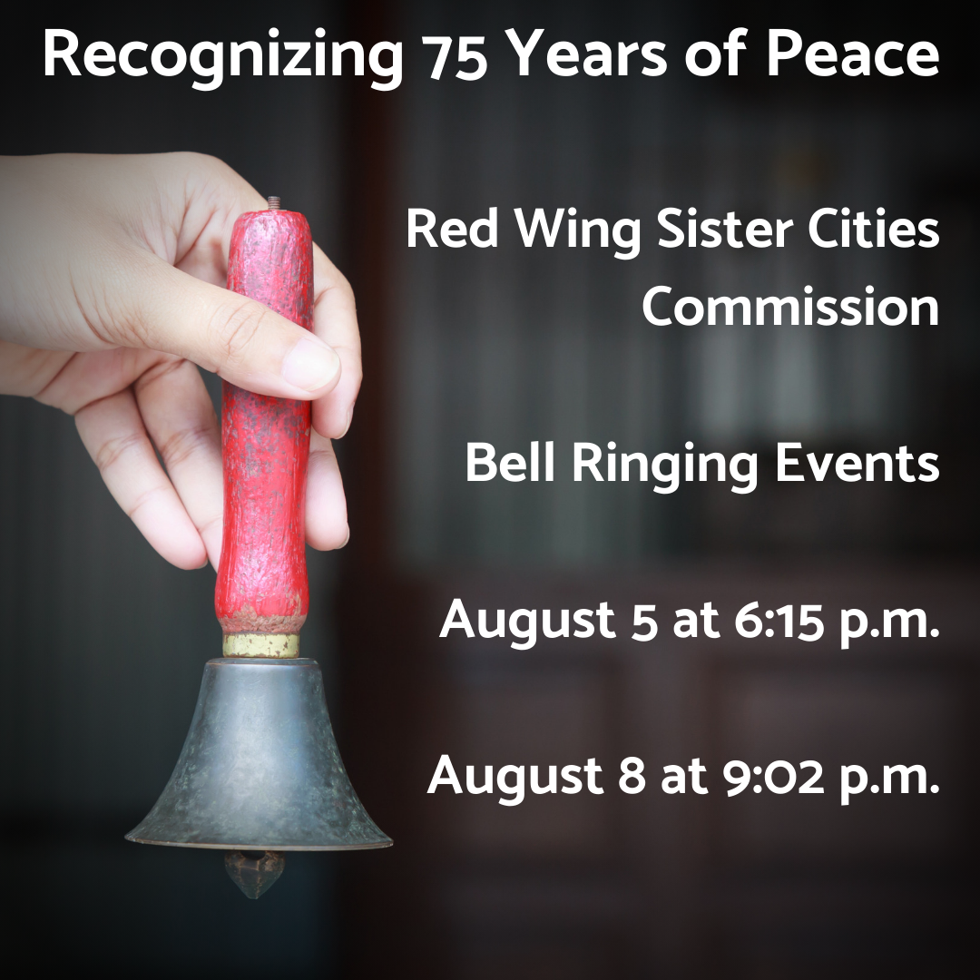 Image of a hand holding a bell against dark background with SCI bell ringing event information