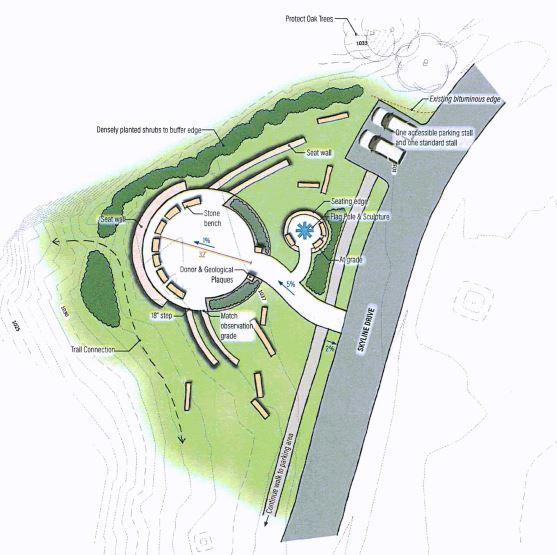 Digital rendering of an overlook design in Memorial Park