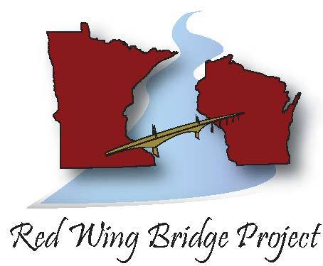 graphic of the states of MN and WI being joined by a bridge with the Mississippi river running undernearth