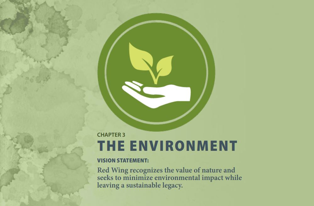 Image of The Environment chapter page of the Red Wing 2040 Community Plan