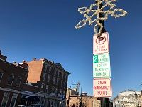 Photo of downtown parking signs in Red Wing