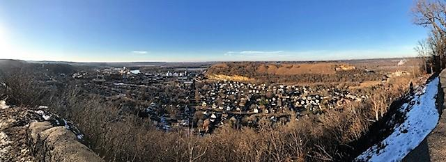 Panoramic photo of Red Wing from Memorial Park