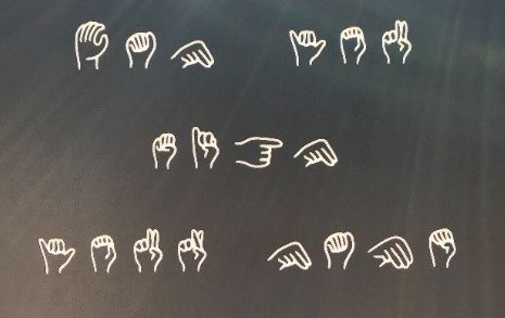 image of hands spelling out words
