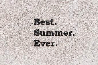 Image of the words Best Summer Ever in black type against a white background