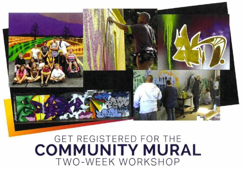 Image of a flyer for the Community Mural workshop