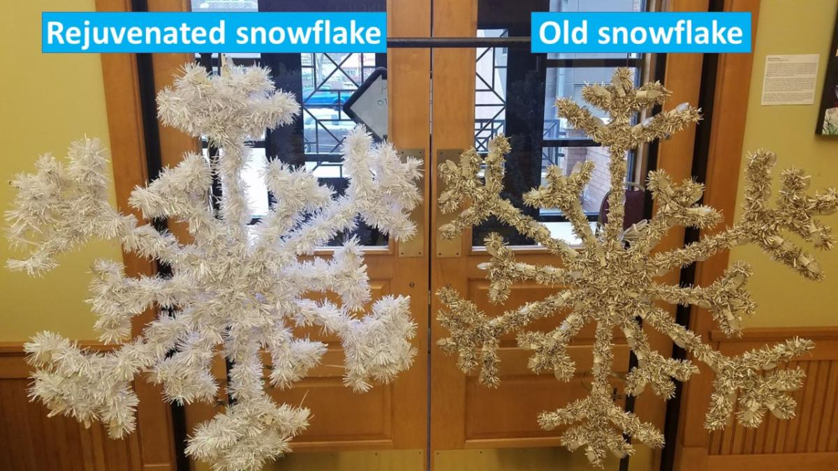rejuvenated snowflake decorate