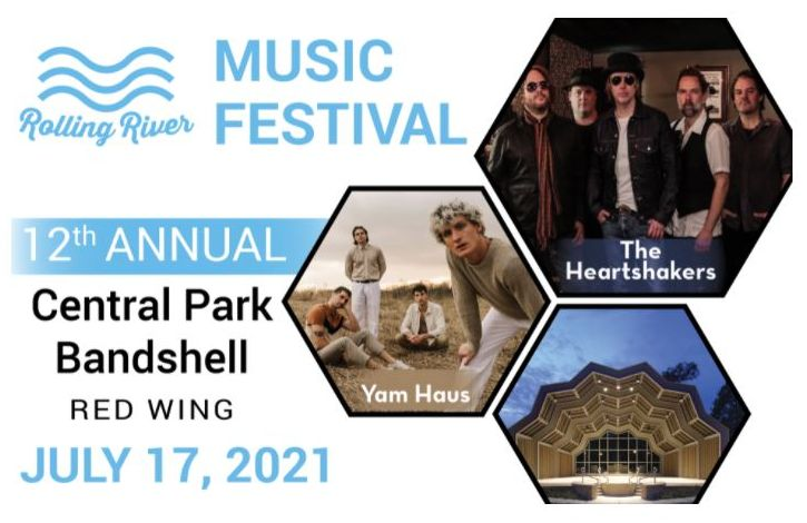 rolling river music festival logo with 2021 artists