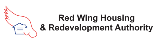 HRA logo with red outline of a wing around blue outline of a house