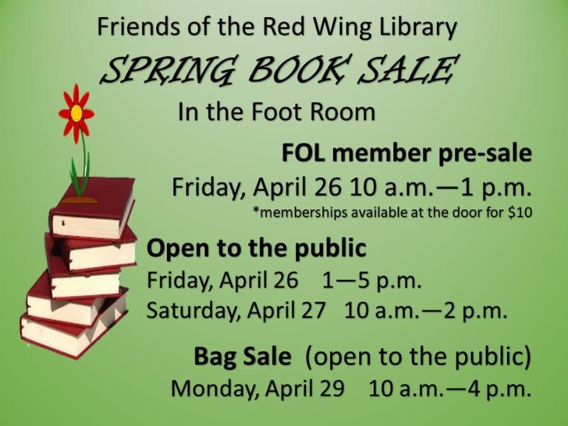 2019 Spring Book Sale information