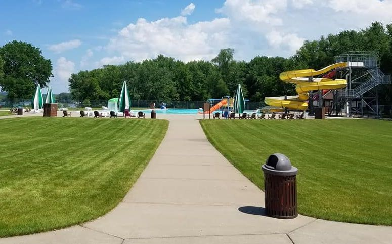 Image of the Red Wing Water Park on a sunny summer day