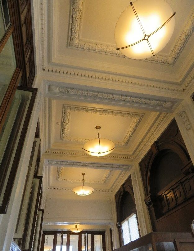 Photo of the ceiling of the Red Wing Post Office
