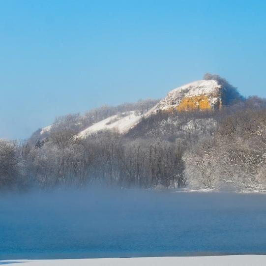 Photo of He Mni Can Barn Bluff in Winter