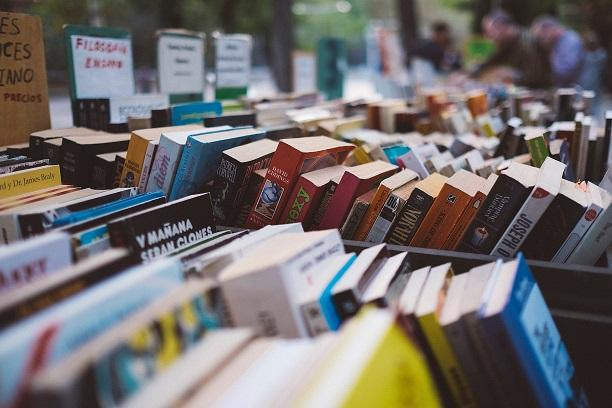 Photo of rows of books