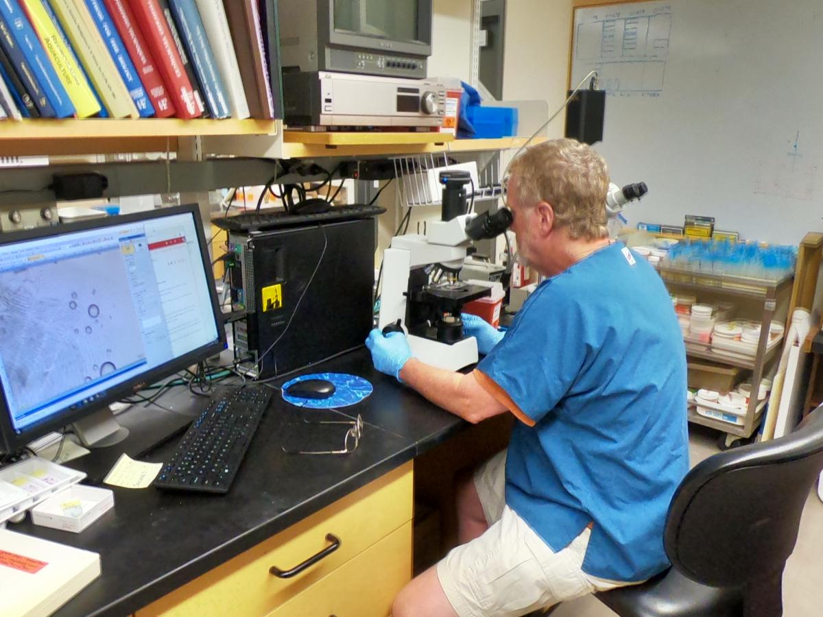 Dr. Rod Getchell in his Fish Lab