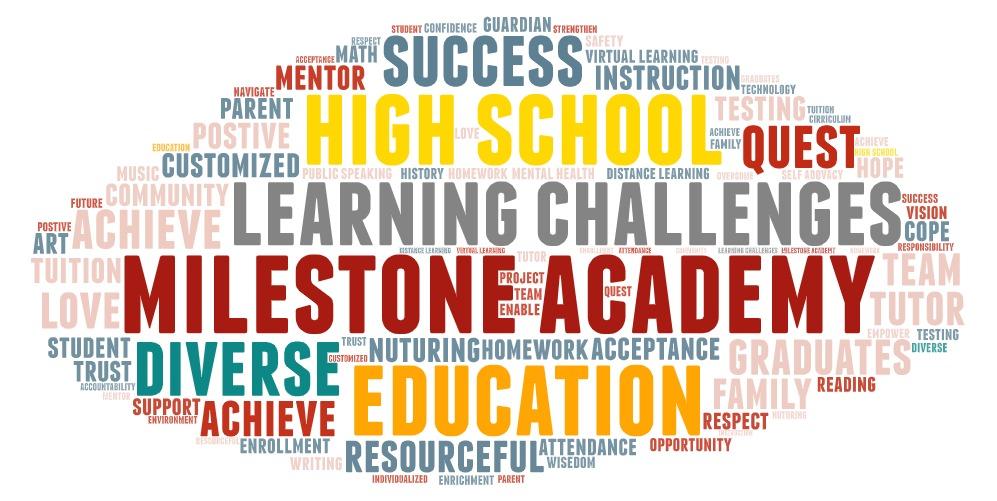 Milestone Academy Word Art