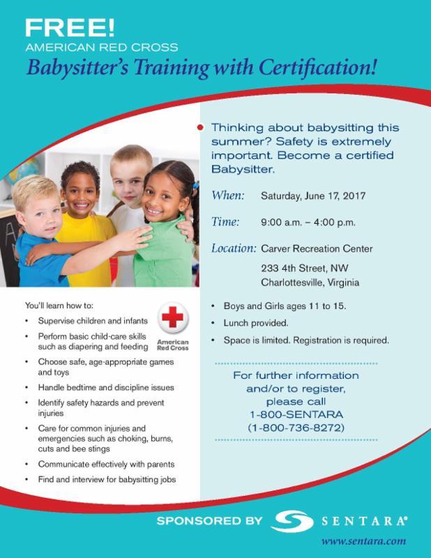 Sentara Babysitter's Training with Certification