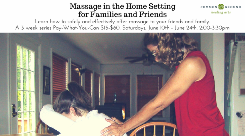 Massage in the Home Setting for Families and Friends