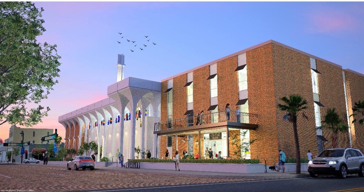 The Portico rendering