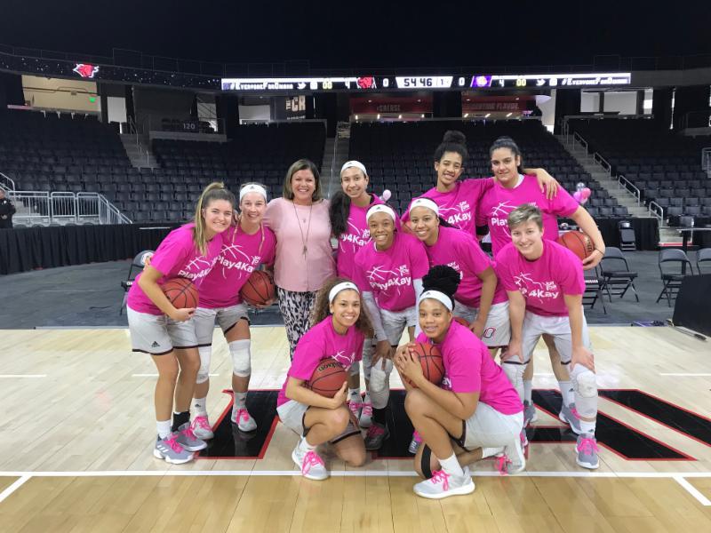 UNO Womens Basketball team