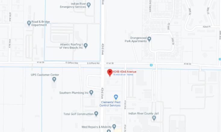 Google Maps 4048 43rd Avenue Vero Beach, FL 32960