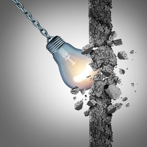 bulb breaks wall