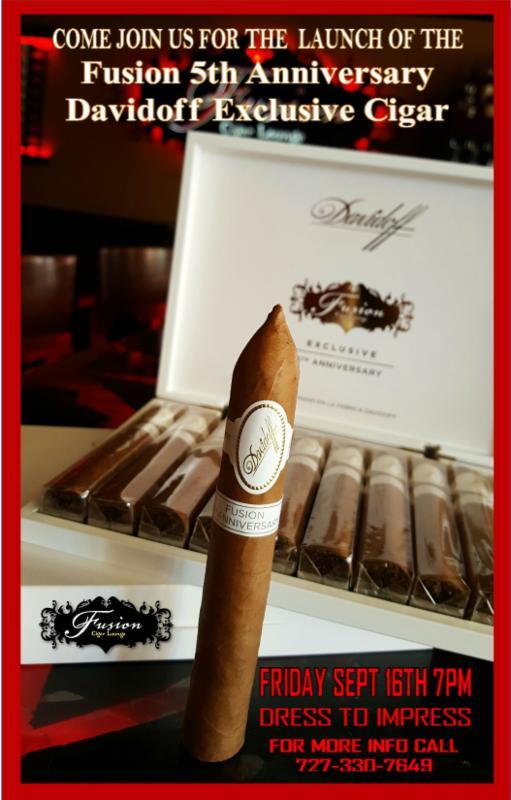 Fusion Cigar Lounge 5th Anniversay Davidoff Exclusive Cigar