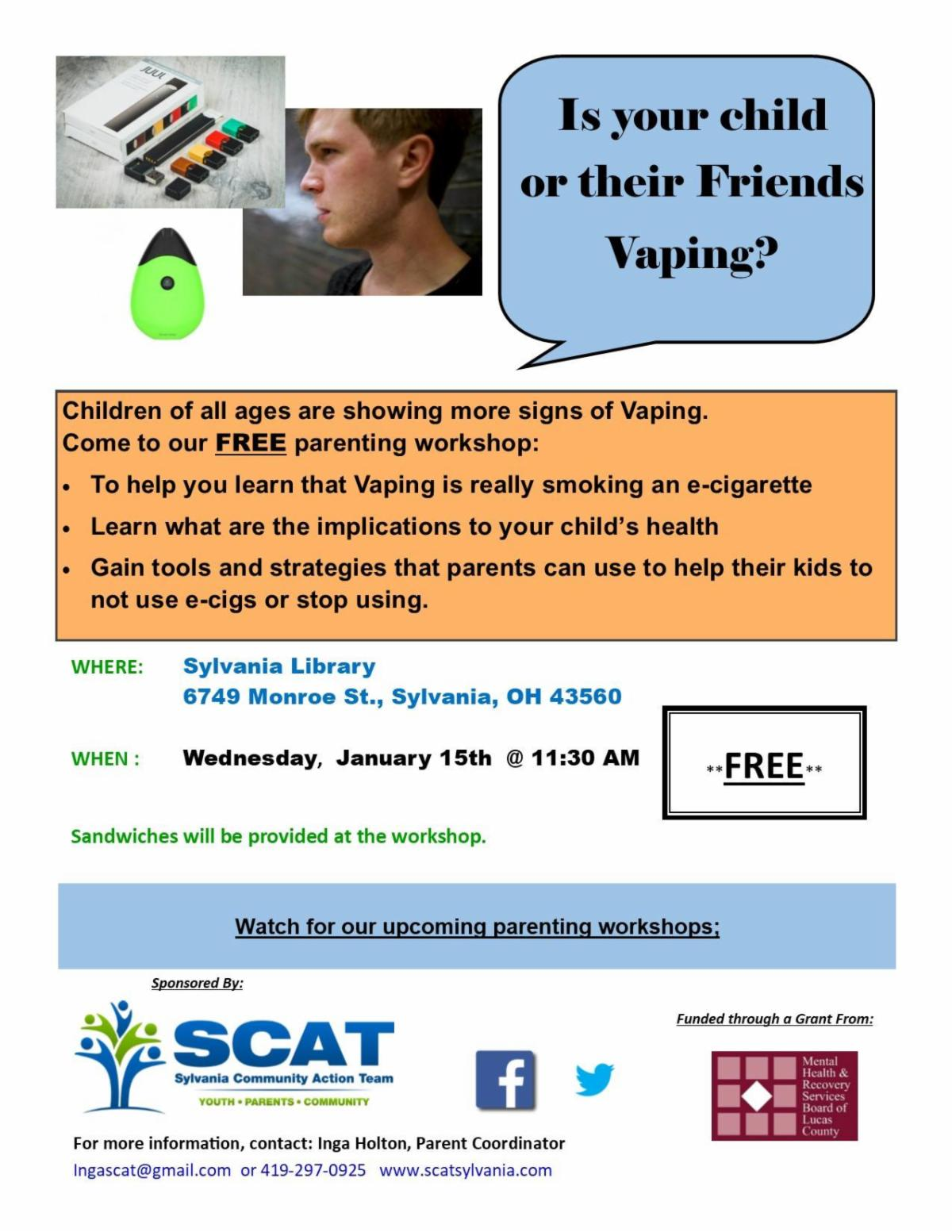 Is your child vaping? Presentation by SCAT