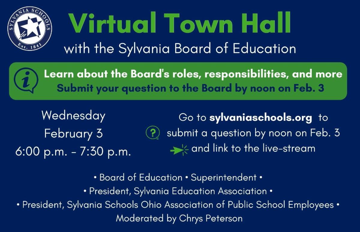 Sylvania Schools virtual town hall