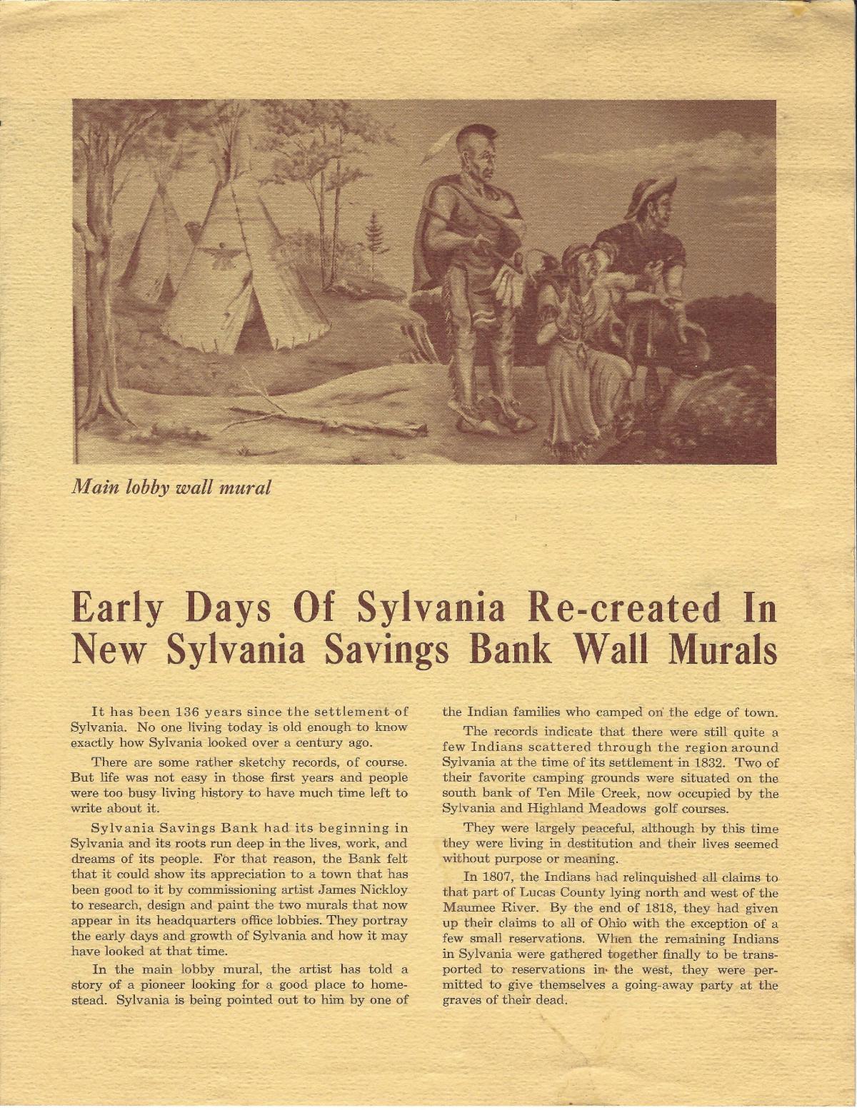 Sylvania Savings Bank Mural