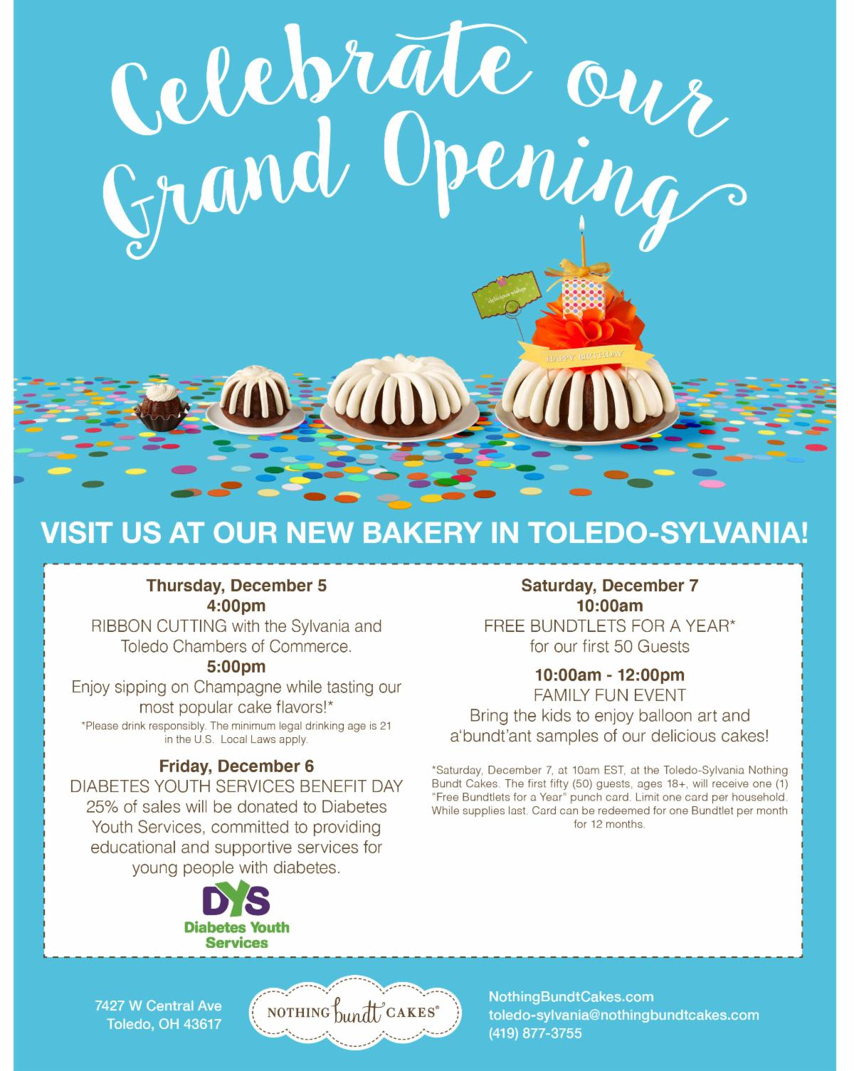 Nothing Bundt Cakes Grand Opening