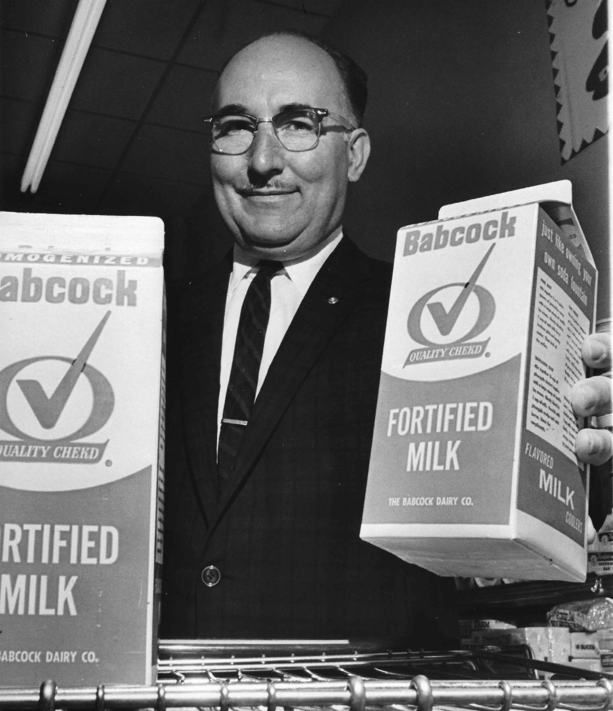 Bob Sautter with Babcock Dairy products