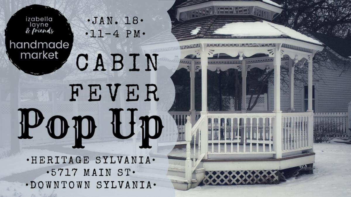 cabin fever pop up sale in downtown sylvania 2020