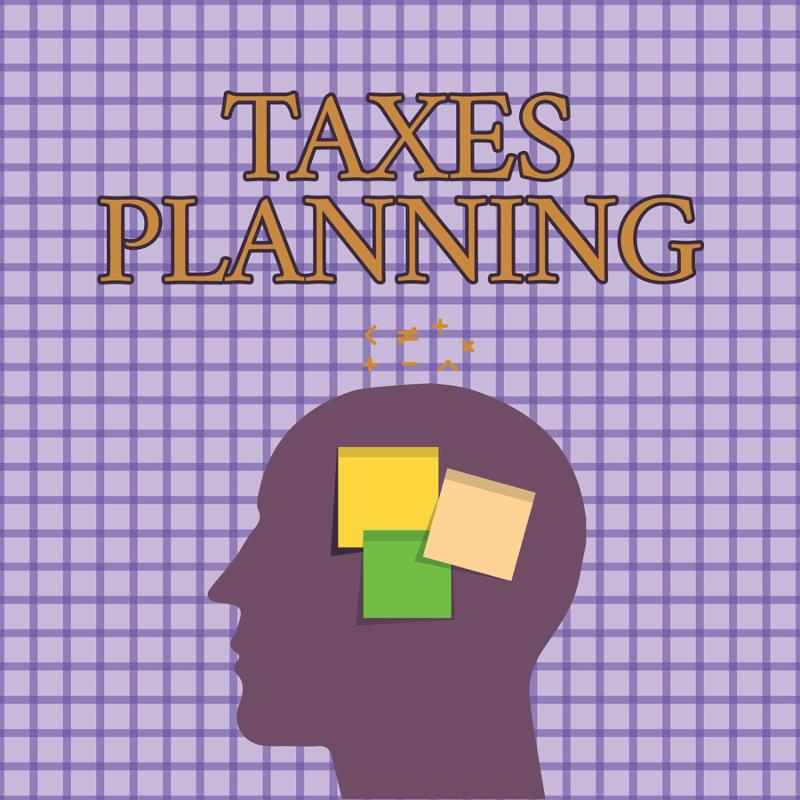 Conceptual hand writing showing Taxes Planning. Business photo showcasing Analysis of a financial situation Ensure tax efficiency