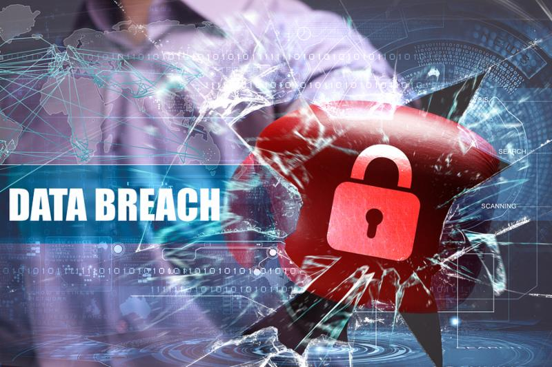 Business Technology Internet and network security. data breach
